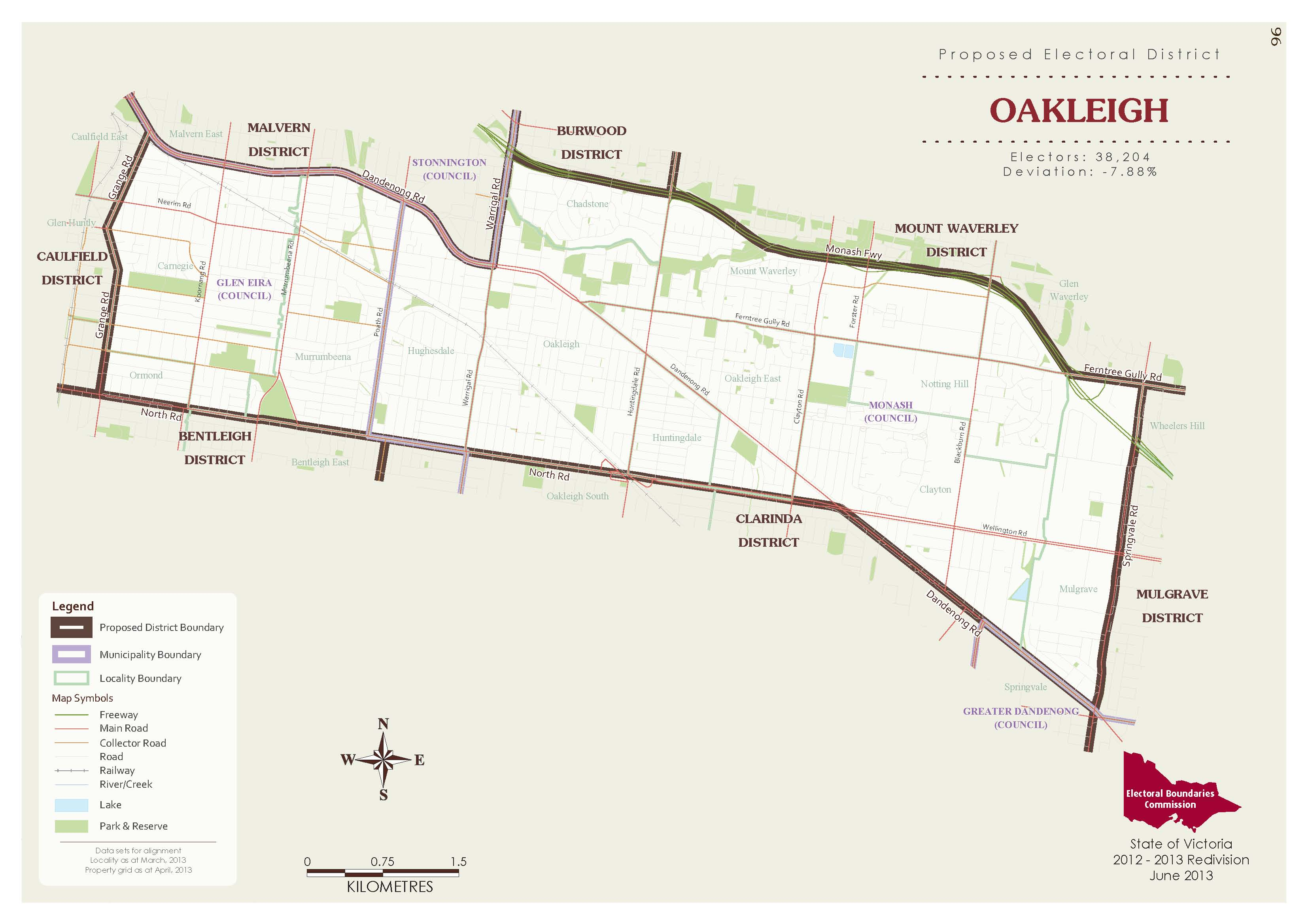New Oakleigh Map 2014